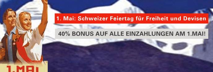 BDSwiss schreibt 40% Bonus auf ALLE Einzahlungen am 1. Mai gut!