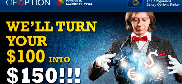 Topoption Renditewochen – Konto mit nur 100€ eröffnen und 50€ gratis erhalten Aktion