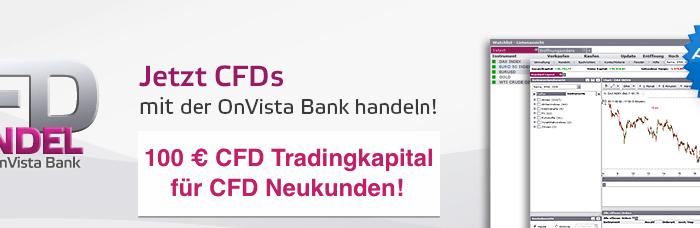 OnVista Bank CFD – 100€ CFD Gratis Tradingkapital für ehemalige RBS Trader