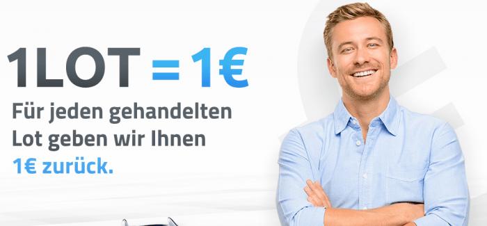 XTB: Exclusiver Cashback für jeden gehandelten Lot jeweils 1€ zurück